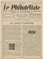 LE PHILATELISTE - Revue Bimensuelle N°18 - 1942  - Les Locaux D'Allemagne - Bücher, Zeitschriften, Comics