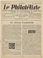 LE PHILATELISTE - Revue Bimensuelle N°18 - 1942  - Les Locaux D'Allemagne - Boeken, Tijdschriften, Stripverhalen