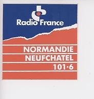 Radio France Normandie Neufchatel 101.6 (autocollant 9X9) - Radio
