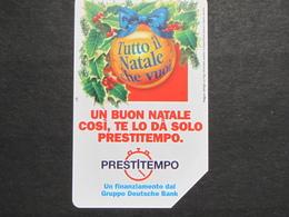 ITALIA 2627 C&C 567 GOLDEN  - BUON NATALE PRESTITEMPO LIRE 5.000 - USATA PERFETTA QUALITA' FIOR DI STAMPA - Italia