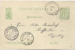 Nr. 47 - Postes Relais No. 9 (Reisdorf) Stempel 18-05-1887 Nach Luxemburg - Machine Stamps (ATM)