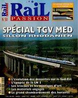Revue RAIL PASSION N°50, Spécial TGV Med Sillon Rhodanien, Toulouse Matabiau, Sernam, Y 8000/8400, Bruxelles-Nice - Spoorwegen En Trams