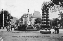 Besançon - Fêtes Présidentielles 1910  Avenue Carnot. Place Flore. Edition  IPM N° 2. TB état. - Besancon