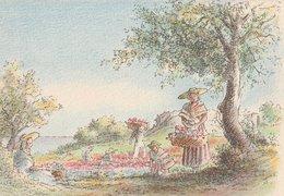 Barré & Dayez. Illustrateurs: Signé: P. Charlemagne. GRASSE (06). La Cueillette Des Fleurs. N°1471 L - Illustrateurs & Photographes