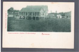 SURINAME Gouvernements Station Frederiksdorp Ca 1905 OLD POSTCARD - Surinam