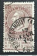 N. 61, 35 Cent Brun, Obl. Borgerhout (Anvers) 12/2/189?, NIPA 50 - 1893-1900 Schmaler Bart