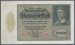 P70 Ro 68a DEU-76  10000 Mark 1922 AUNC+ Pas De Plis! - [ 3] 1918-1933 : République De Weimar