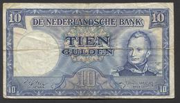 Netherlands 10 Gulden 4-3-1949 , No 4 AF 577018,  - See The 2 Scans For Condition.(Originalscan ) - [2] 1815-… : Koninkrijk Der Verenigde Nederlanden