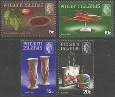 Pitcairn Islands. 1968 Handicraft (1st Series). MH Complete Set. SG 88-91 - Stamps