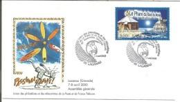 OBLITERATION COMMEMORATIVE CONGRES UNION PHILATELISTES DE LA POSTE ET TELECOM à LACANAU (GIRONDE) 2000 SURF - Marcofilie (Brieven)