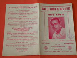 Dans Le Jardin De Mes Rêves (Tino Rossi) -(Musique Reifeld-Marbot) (Paroles Maurice Louis Poterat) (Partition) - Music & Instruments
