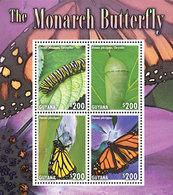 Guyana 2014 - Faune, Le Papillon Monarque II - BF 4 Val Neufs // Mnh - Guyane (1966-...)