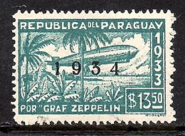 Graf Zeppelin 1934 MH, Very Fine (450) - Paraguay