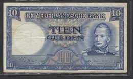 Netherlands 10 Gulden 4-3-1949 , No 5 AR 056174,  - See The 2 Scans For Condition.(Originalscan ) - [2] 1815-… : Koninkrijk Der Verenigde Nederlanden