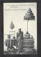 CPA Laos Asie écrite Indochine Le Pape Des Bonzes - Laos