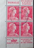 R1949/694 - 1955 - TYPE MARIANNE DE MULLER - BLOC N°1011 (carnet) Avec Bandes Publicitaires PRIMAGAZ / WHIP - Advertising