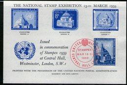 ONU 1959 SOUVENIR EXPO 1959 YVERT N°58 - New-York - Siège De L'ONU