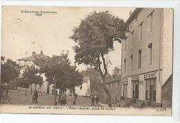07 Ardèche - St Agrève L'hotel Restaurant Café Teyssier Place De Verdun 1930 - Saint Agrève