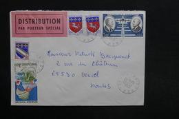 FRANCE - Enveloppe Par Porteur Spécial De Zonza Pour Vercel En 1977 - L 29095 - Storia Postale