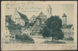 Ansichtskarte Riedlingen 1902 Nach Ulm - Deutschland