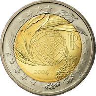 Italie, 2 Euro, World Food Program Globe, 2004, SUP, Bi-Metallic, KM:237 - Italie