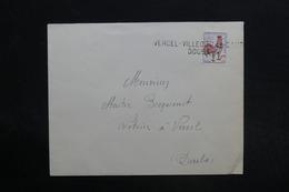 """FRANCE - Griffe """" Vercel Villedieu Camp - Doubs """" Sur Type Coq Sur Enveloppe Pour Vercel - L 29100 - Storia Postale"""
