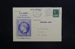 """FRANCE - Entier Postal, Repiquage Commerciale """" Les Bleus De France """" Par Barat De Provins Pour Vercel En 1975 - L 29101 - Cartes Postales Types Et TSC (avant 1995)"""