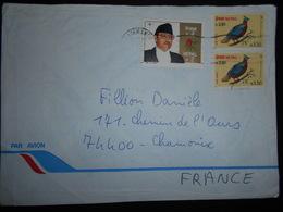 Nepal Lettre De Kathmandu 1991 Pour Chamonix - Nepal