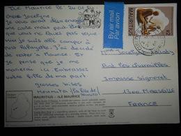 Maurice Carte De Curepipe 1984 Pour Marseille - Maurice (1968-...)