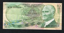 // TURKIJE  10 TURK LIRASI 1970 - Turquie