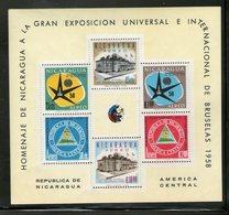 NICARAGUA 1958 EXPO BRUXELLES  YVERT N°B86  NEUF MNH** - 1958 – Brussels (Belgium)