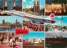 Aviation - Avions - Concorde - Compagnie British Airways - Londres - London - Multivues - Chevaux - Carte Neuve - Voir S - 1946-....: Era Moderna