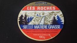 Etiquette De Fromage Les Roches - Fromage