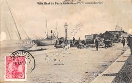 Cartolina Portugal Villa Real De Santo Antonio Porto Semaphorico Anni '10 - Cartoline