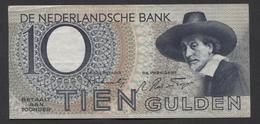 Netherlands 10 Gulden 4-1-1943 -22-4-1944 , No 8 CK 020533 - 20-4-1944,  - See The 2 Scans For Condition.(Originalscan ) - [2] 1815-… : Kingdom Of The Netherlands