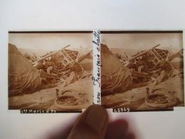 Sainte Marie à Py (51) -  Guerre 14/18 -  Avion Français Abattu - Plaque De Verre Stéréoscopique  6 X 13  TBE - Glass Slides