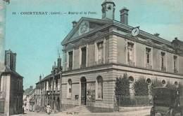 45 Courtenay Mairie Et La Poste PTT Hotel De Ville - Courtenay