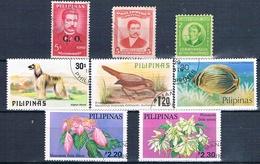 Filipinas 1941 / 79  -  Michel  318 + 550 + 1256 + 1270 + 1291 + 1292 + 1306 + D53  ( Usados ) - Filipinas