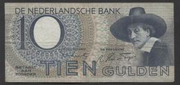 Netherlands 10 Gulden 4-1-1943 -22-4-1944 , No 3 CJ 016339 - 19-4-1944,  - See The 2 Scans For Condition.(Originalscan ) - [2] 1815-… : Koninkrijk Der Verenigde Nederlanden