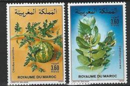 "Maroc YT 1052 & 1053 "" Flore "" 1988 Neuf** - Morocco (1956-...)"