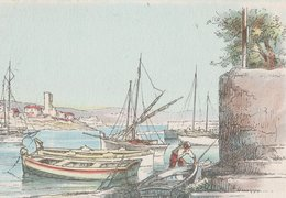 Barré & Dayez. Illustrateurs: Signé: P. Charlemagne. ANTIBES (06). Bateaux De Pêche N°2312 Q - Illustrateurs & Photographes