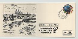 FRANCE CARTE DU 12 JUILLET 1998 ORLEANS TOURNEE LA POSTE FRANCE 98 - Marcophilie (Lettres)