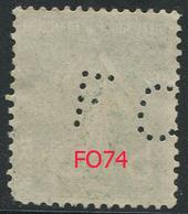 Perforé Semeuse 137 FO 74 Indice 3 - France