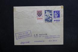 FRANCE - Type Paix Bande Pub Sur Enveloppe De Paris Pour Strasbourg En 1951 - L 29128 - Advertising