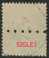 Perforé Semeuse 137 SIGLE 1 Indice 3 - France