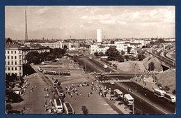 Lettonie. Riga. Rue Du 13 Janvier. Station Des Tramways. A Gauche Tour Radio-TV. A Droite Gare Centrale. - Lettonie