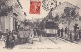 MARSEILLE   SAINT ANDRÉ  L' ARRIVÉE DU TRAMWAY (  PEU COURANTE ) - Quartiers Nord, Le Merlan, Saint Antoine