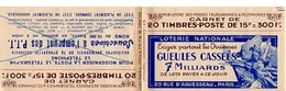 CARNET MARIANNE DE GANDON - YVERT 813 C1 - HAHN / POSTE - NSC - BON ETAT AVEC GOMME JAUNIE - - Carnets