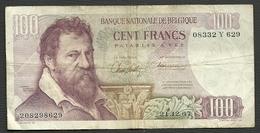 UN BILLET DE BANQUE DE BELGIQUE DE 100 FRANCS DU 21 -12 - 67 - [ 2] 1831-... : Regno Del Belgio