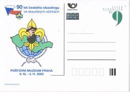 32658. Entero Postal Republica CHECA 2002. Theme SCOUT. 90 Let Ceskeho Skautingu - Enteros Postales